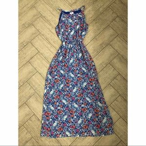 Old Navy printed maxi dress